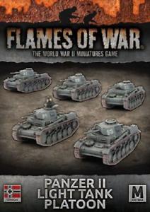 Flames of War GBX108 Panzer II Light Tank Platoon  New