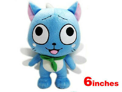 New Blue Cute Fairy Tail Happy 6 Inches Plush Doll
