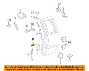 gm oem front door lock rod clip 16640343 ebayimage is loading gm oem front door lock rod clip 16640343