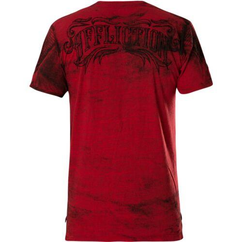 Affliction t-shirt Causeway rojo t-shirts