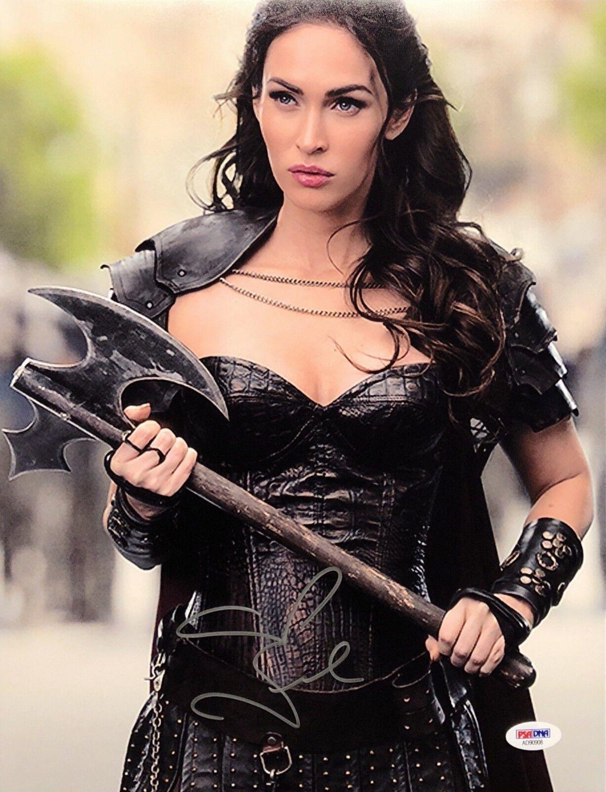 Megan Fox Signed 11x14 Photo *Model *Actress PSA AD90908