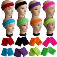 Neon Headband Wristbands Sweatbands Or Both 1980s 80s Fancy Dress Costume