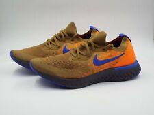 a62e08bfc96e9 Nike Epic React Flyknit Sz 12 Golden Beige/racer Blue #av8068-200