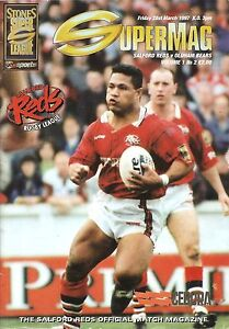 Salford v Oldham  Super League  1997 - Warrington, United Kingdom - Salford v Oldham  Super League  1997 - Warrington, United Kingdom