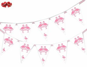 Exotic-Happy-Birthday-Bunting-Banner-15-flags-Flamingo-Pink-by-Party-Decor