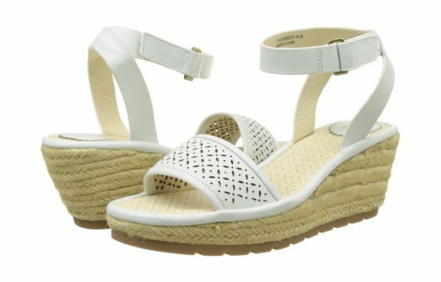 FLY LONDON Ekal Off White Uk8 Leather Wedge NEW Espadrille Sandals Eu41 BRAND NEW Wedge c7de35