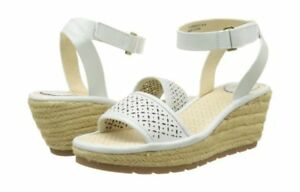 Brand London Sandals Fly New Eu41 Wedge Off White Uk8 Leather Ekal Espadrille HFxwvF6q