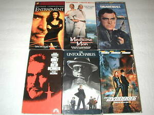 SEAN-CONNERY-6-PACK-VHS-MOVIE-LOT-RARE-OOP-HTF