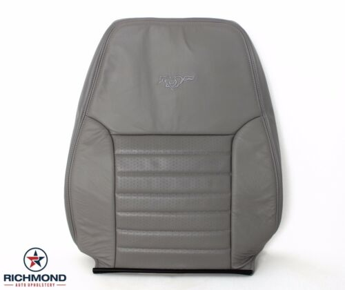 99-04 Ford Mustang GT 6-Speed V8 Driver LEAN BACK Perforated Leather Seat Gray