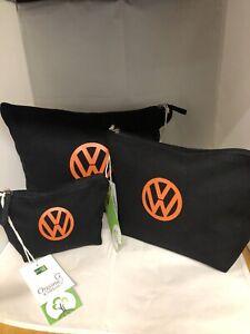 set-of-3-VW-100-organic-cotton-wash-makeup-accessory-bag-black-orange-campervan