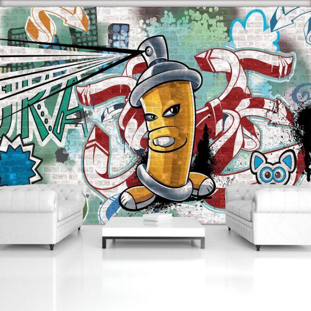 Photo Wallpaper Mural Non Woven 0077778d13 Yellow Graffiti Spray