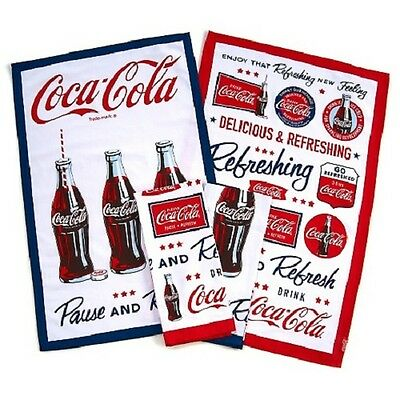 COCA COLA DISH DRYING TOWELS SET OF 4 BRAND NEW FOR THE  KITCHEN