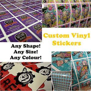 QUALITY PRINTED CUSTOM SHAPE VINYL STICKERS Waterproof Decals - Custom vinyl stickers waterproof