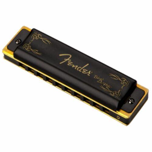 Fender Blues DeVille 10-Hole Diatonic Harmonica with Case Key of D