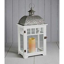BIANCO GRANDE Cole & Bright Lanterna da interno / esterno giardino luce vetro legno e metallo
