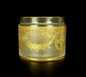 Intelligent Petit Pot En Cristal Et Dorure Xix E Diam 65 Mm 123 G