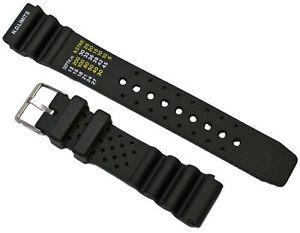 Caucho-Buceador-Pulsera-de-Reloj-Negro-Apto-Citizen-Promaster-20mm-Pulsera