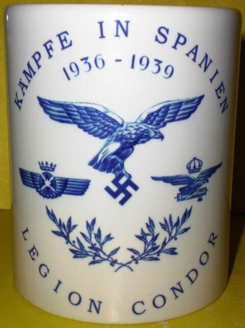 Porcelain mug with pattern. Spain. Germany. Legion Condor.