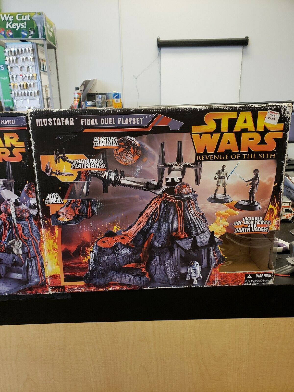 2005 Hasbro Star Wars Revenge of the Sith Mustafar Final Duel Playset Inutilisé