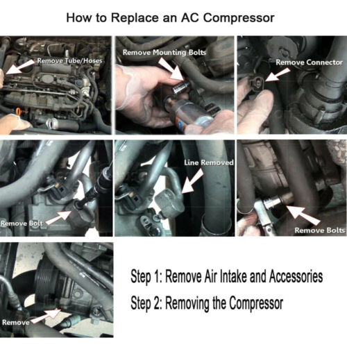 CO 9537C A//C Compressor and A//C Clutch Replaces fit for Sanden SD508 O Ring