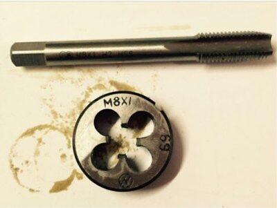 1pc HSS Machine M10 X 1mm Plug Tap and 1pc M10 X 1mm Die Threading Tool