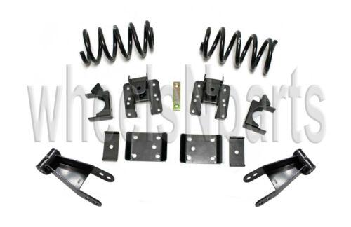Lowering Kit Coils Shackles Hangers Flip 2//4 Drop 2007-2019 Chevy Silverado V8