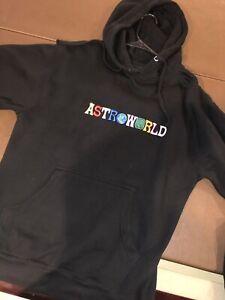 Details about Travis Scott Astroworld Hoodie Size M Black 100% Authentic