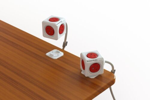Boston Red 5 Outlet Power Adapter w// 5ft Extension cord PowerCube Extended