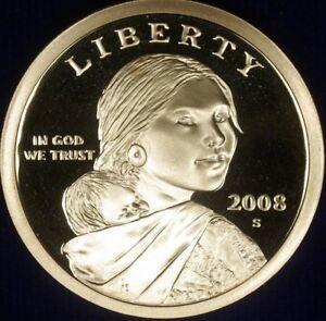 2008 S Sacagawea Native American Dollar Gem Deep Cameo PROOF US Mint Coin