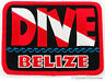 DIVE BELIZE- EMBROIDERED PATCH SCUBA DIVING FLAG LOGO IRON-ON TRAVEL SOUVENIR