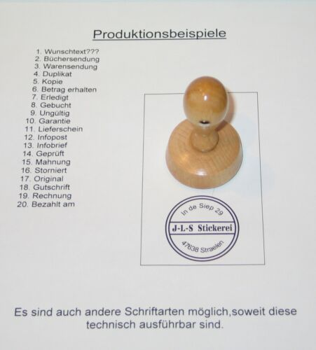 Rundstempel-45mm Durchmesser-individuelle Stempel-Siegelstempel-Wunschtext-D