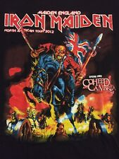 T Shirt Vintage Iron Maiden Tour 2012 Large NWOT Maiden England Coheed 28 X 21