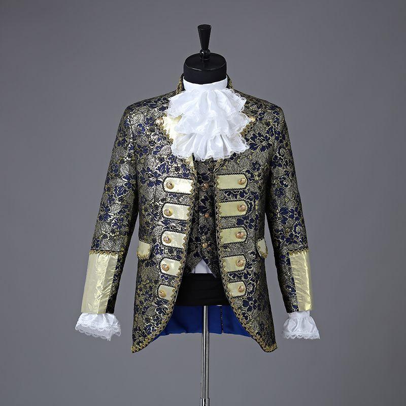 Renaissance Style Men's Suit Coat Waistcoat Long Sleeve Suit Cosplay And Events