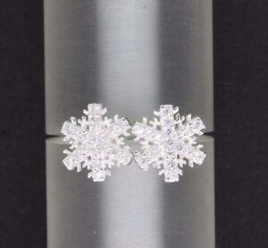Eiskoenigin-Damen-Ohrstecker-Schneeflocke-925-Silber-Eiskristall-Ohrringe-Winter