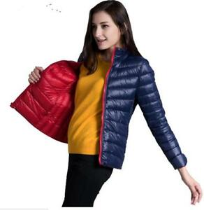 a5f936360 Details about Women Ultra Spring Autumn Jackets Light Down Jacket Parkas  jacket coat