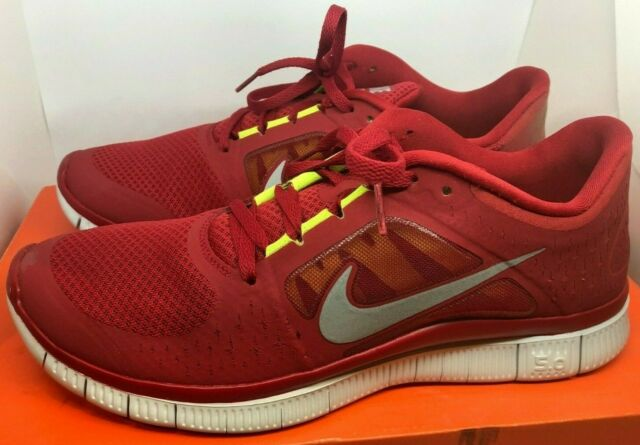 new styles 5d5b9 1ff46 Nike Free Run+ 3 Gym Red Running Shoes Men Size 10.5 510642-600