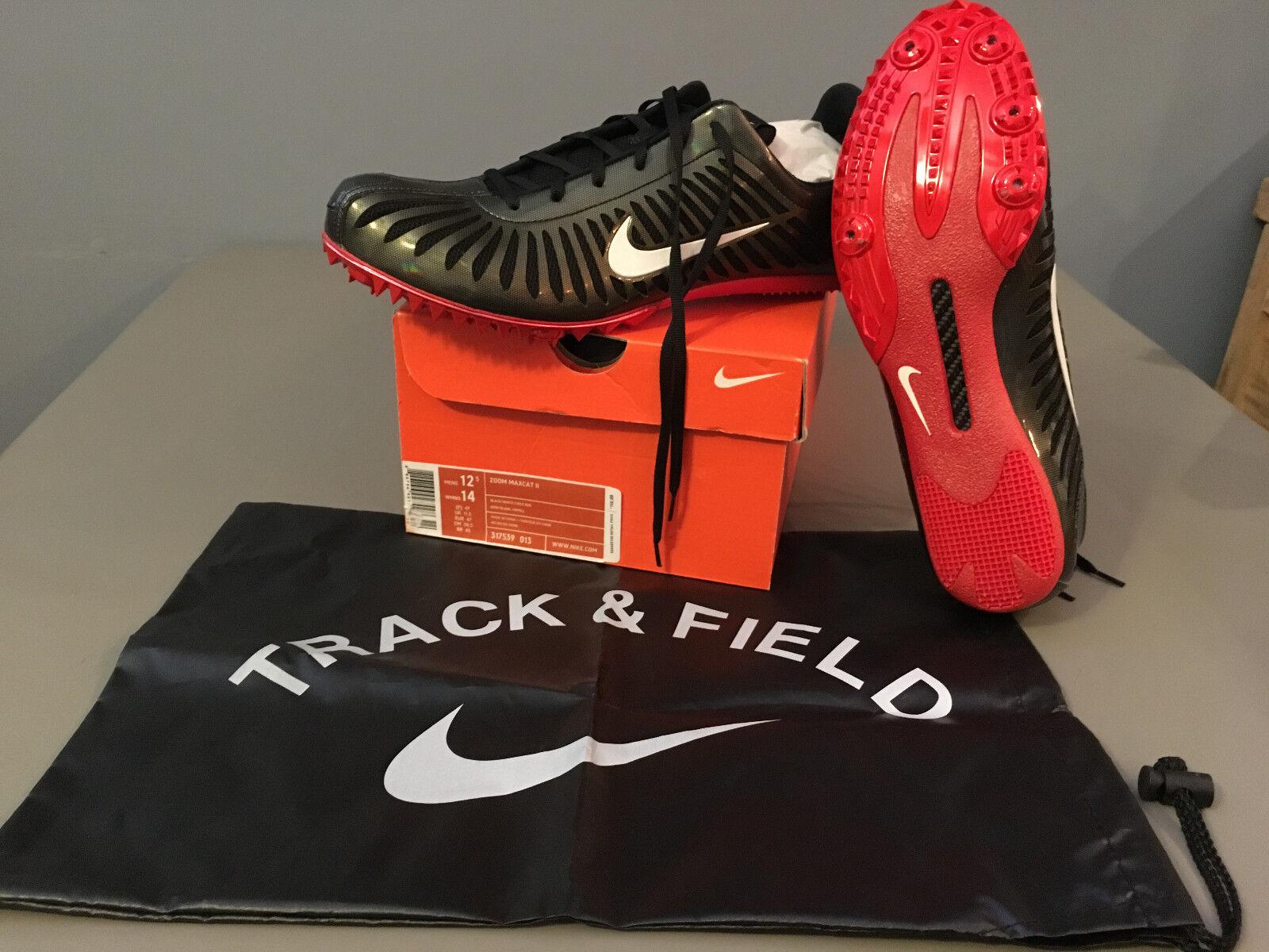 Nuevo en la caja para hombre Nike atletismo Zoom maxcat II atletismo Nike Púas de pista (317539) eba4ef