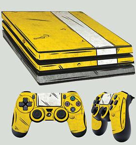 PS4-Pro-Peau-Cel-Degrade-Bordure-Pays-Sobel-Style-Autocollant-2-X-Pad-Vinyle