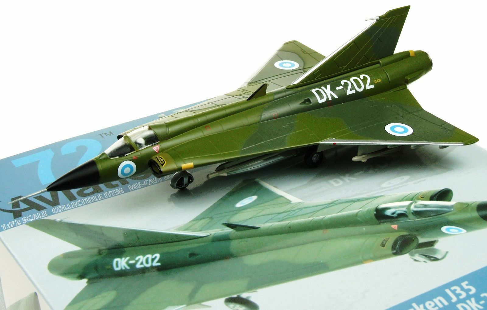 AVIATION72 AV7241005 1 72 SAAB DRAKEN J35 FINNISH AIR FORCE DK-202 W STAND - NEW