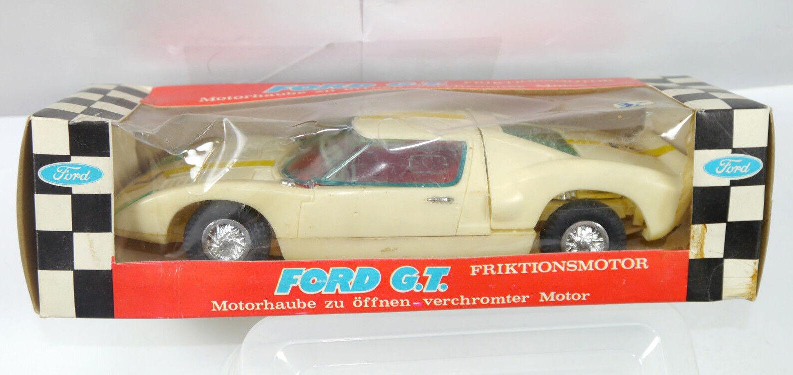 Europa 7145 Ford G.T.Friktionsmotor Plastic Model Car Ca.21cm - Boxed (K31)