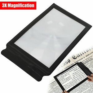 A4 Full Page 3x Magnifier Sheet Book Reading Aid Lens Large Magnifying Glass US