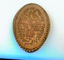 Our Father... forgive us... - elongated copper metal penny  pocket CHARM / find