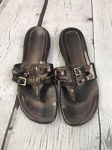 Cole Haan 7 B Womens Bronze Thong Flip Flop Sandals D24632