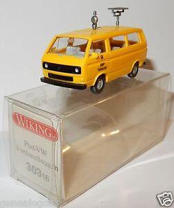 WIKING-HO-1-87-VW-VOLKSWAGEN-TRANSPORTER-T3-COMBI-DBP-TELEKOM-POST-TELECOM-POSTE