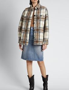 ETOILE-ISABEL-MARANT-Gastoni-Plaid-Shirt-Jacket-Beige-Size-38-Orig-545-NWT