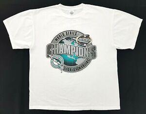 Vintage Florida Marlins Champions 2003 Tee White Size L Mens T-Shirt