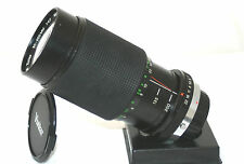 AN OLYMPUS OM BAYONET FIT VIVITAR 1:4.0 MC F=80-200mm MACRO FOCUSING ZOOM LENS