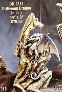 Ceramic-Bisque-Driftwood-Dragon-in-Lair-Doc-Holliday-2313-U-Paint-Ready-To-Paint
