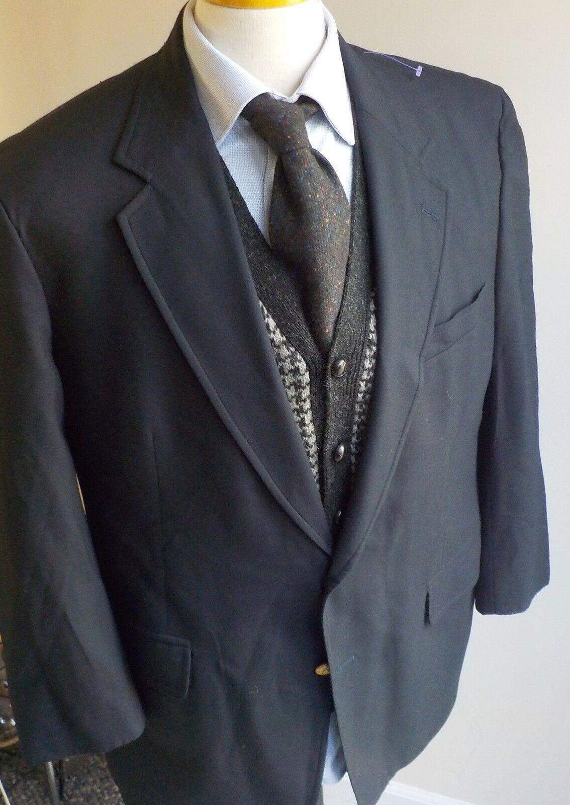 Brooks Bredhers Brooksease 100% Wool Navy 2 Button Blazer 44R