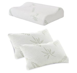 Anti Bacterial Bamboo Memory Foam Pillow Orthopedic Firm